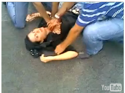 Still from video footage of the death of  Neda Agha-Soltan in Tehran, Iran, on June 13, 2009.