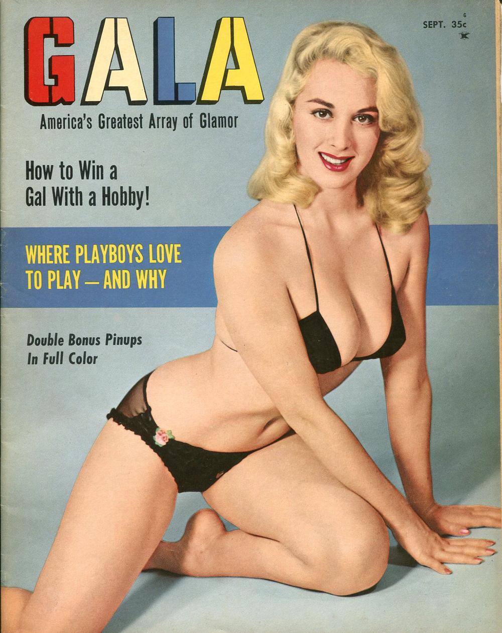 photographer uncredited, cover design,  Gala  magazine, September 1958