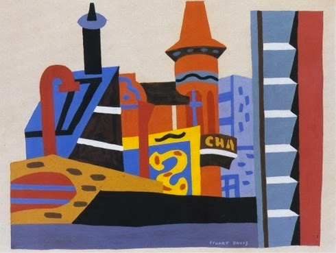 Stuart Davis, a cityscape, also probably from Gloucester, circa 1940