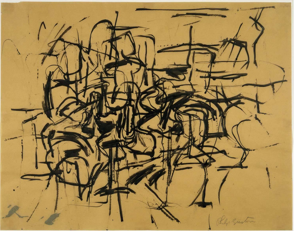 Philip Guston, untitled drawing, 1950