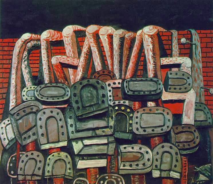 Guston, Ancient Wall, oil on canvas, 1976