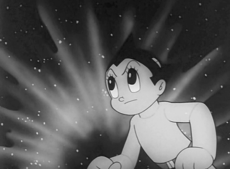 Osamu Tezuka, Astroboy, a still from the title sequence for the television show of the same name. 1962.
