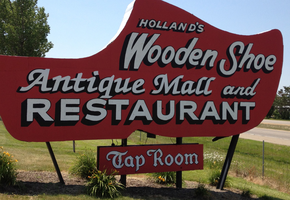 The Wooden Shoe, Holland, Michigan. I took this photograph in June 2012, after perusing the booths. I picked up some copies of  Collier's , 1939-1941.
