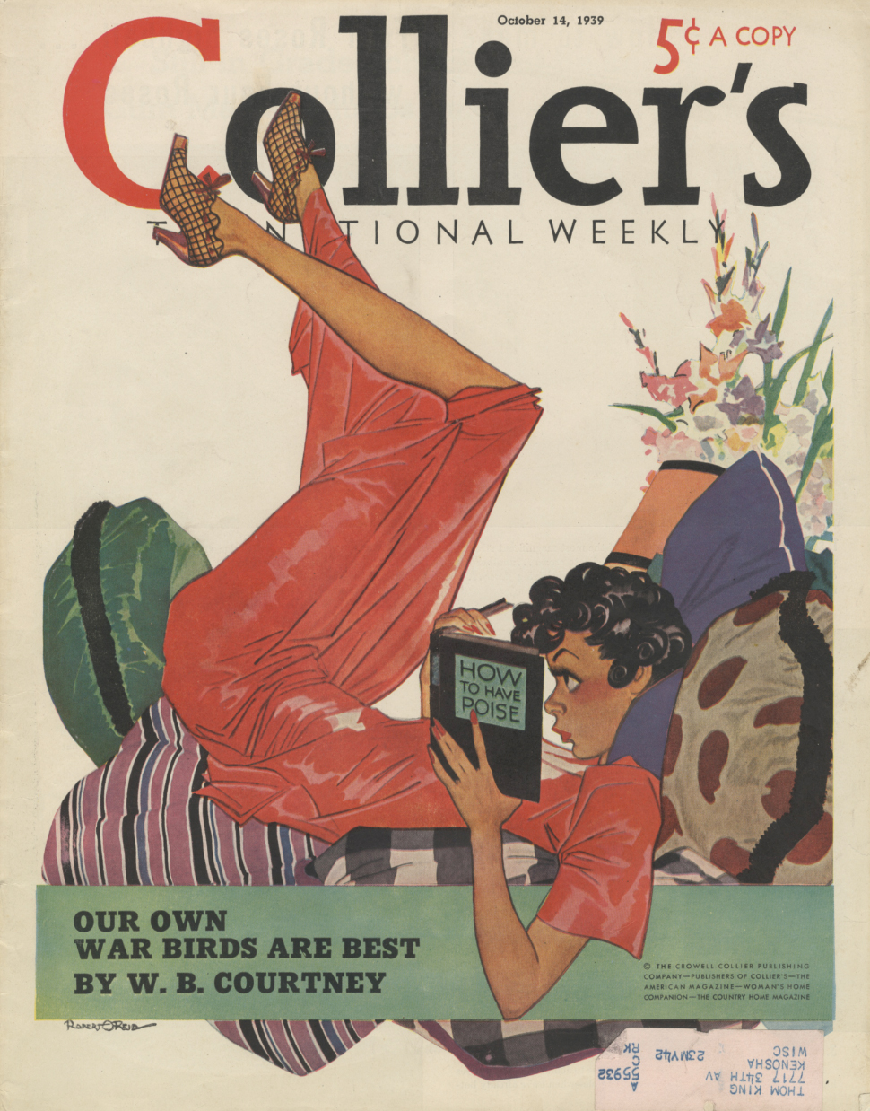 Robert O. Reid, cover illustration,  Collier's Weekly , October 14, 1939. One of the  Collier's  issues I acquired at the Wooden Shoe.