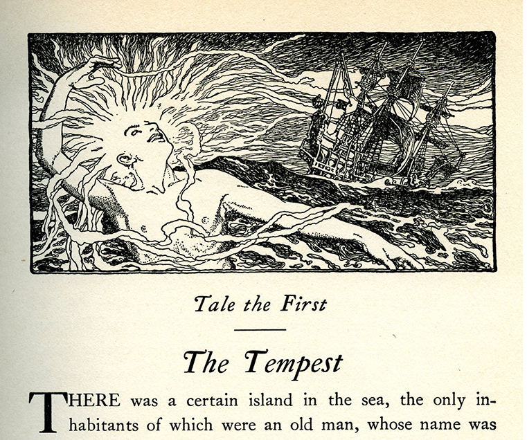 Elizabeth Shippen Green, The Tempest, illustration in Tales From Shakespeare.