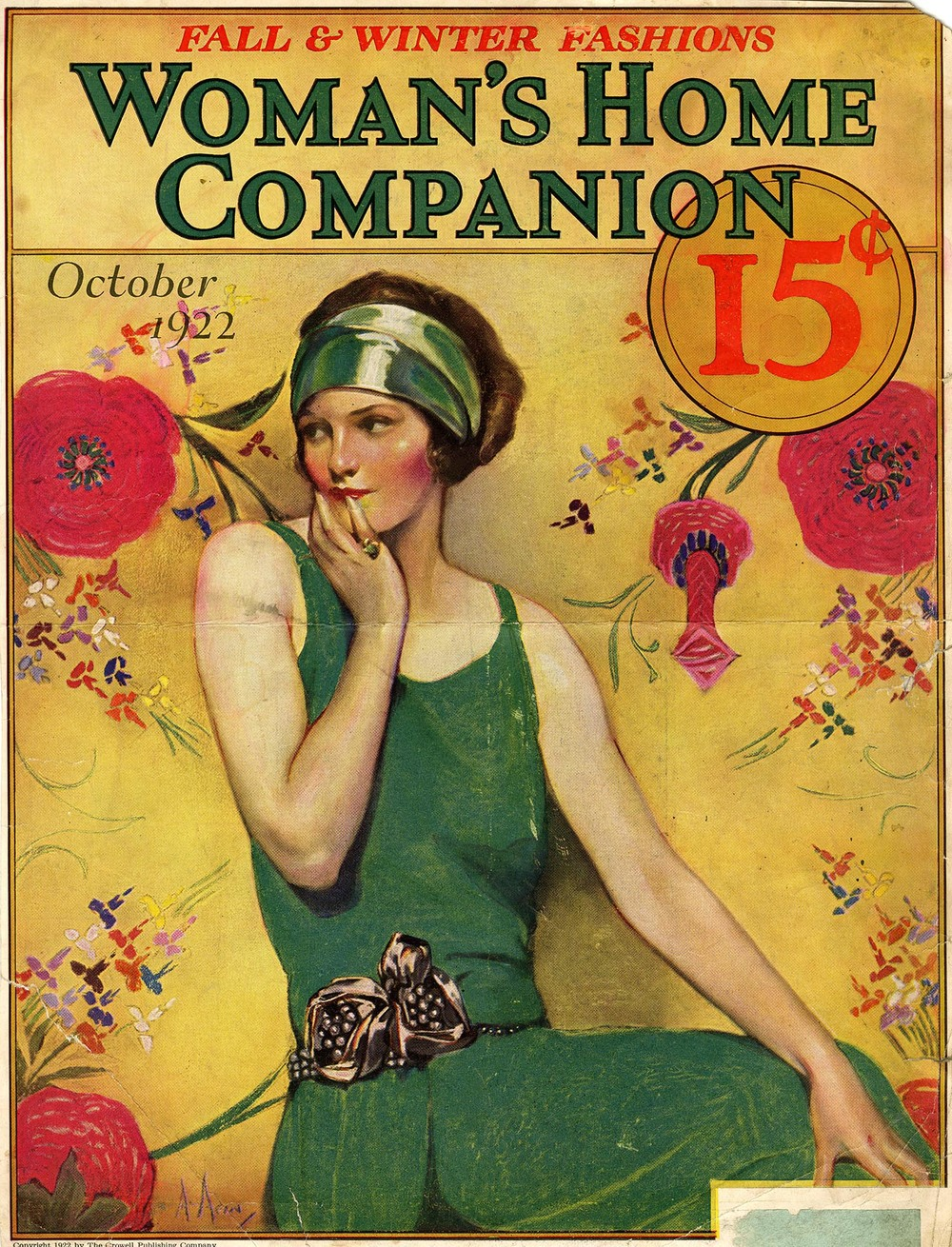 Neysa McMein, cover illustration, Woman's Home Companion, October 1922. Magazine tear sheet, Walt Reed Illustration Archive, Washington University in St. Louis.