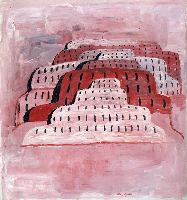 Philip Guston,  City , oil on canvas, 1969. God, I love late Guston.