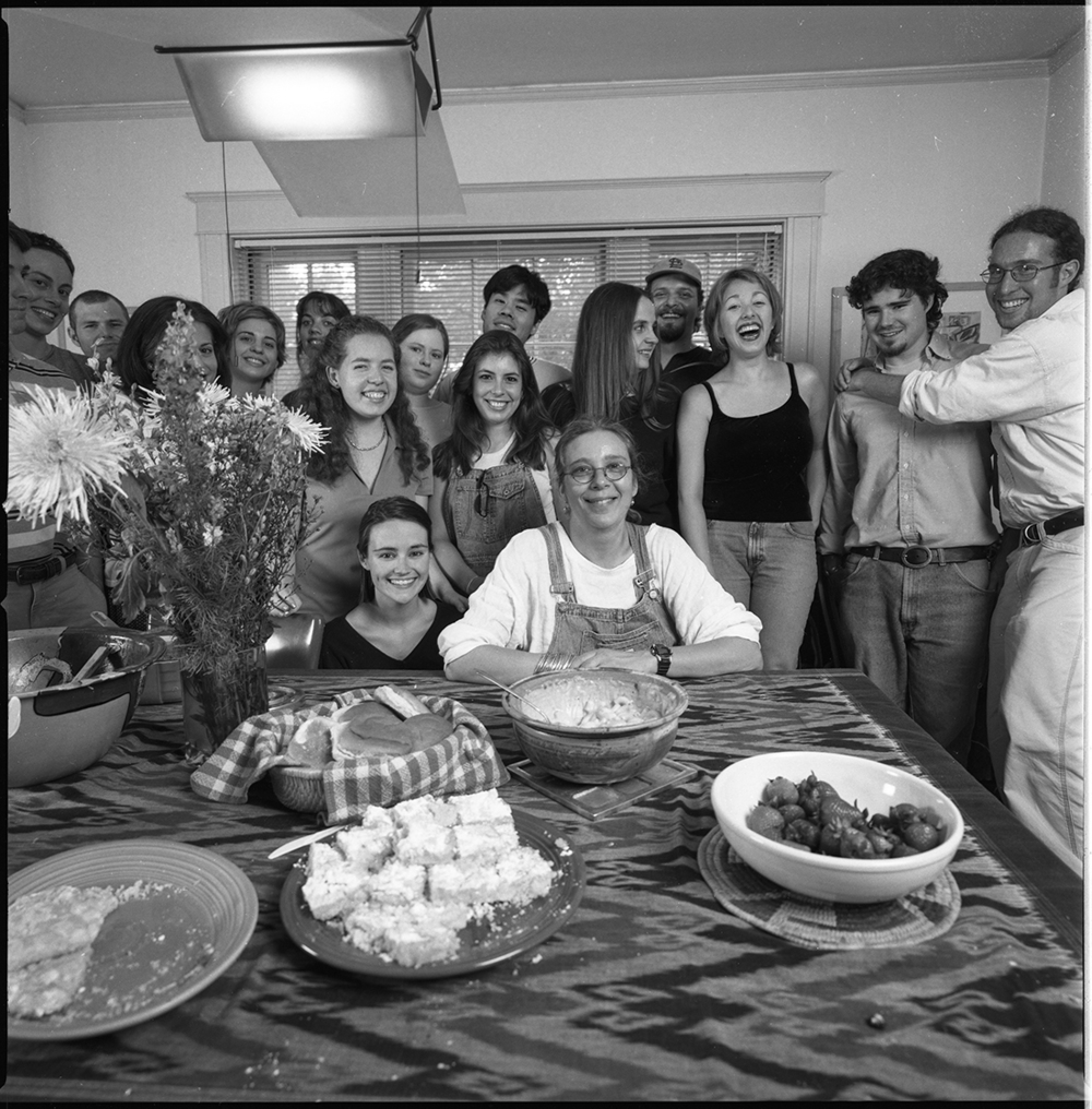 Sarah Birdsall with her students, circa 1998. Photograph by Stan Strembicki.