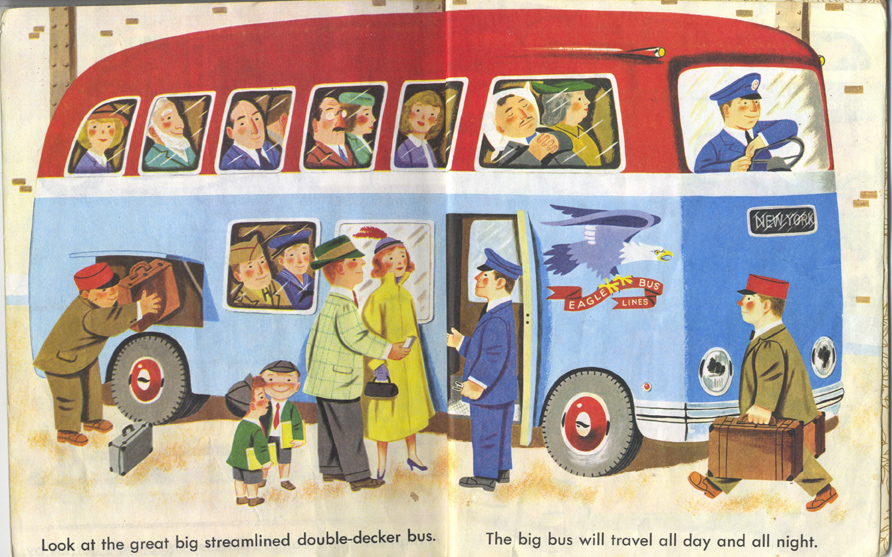 Scarry, Boarding the Bus,  Cars and Trucks , 1951.