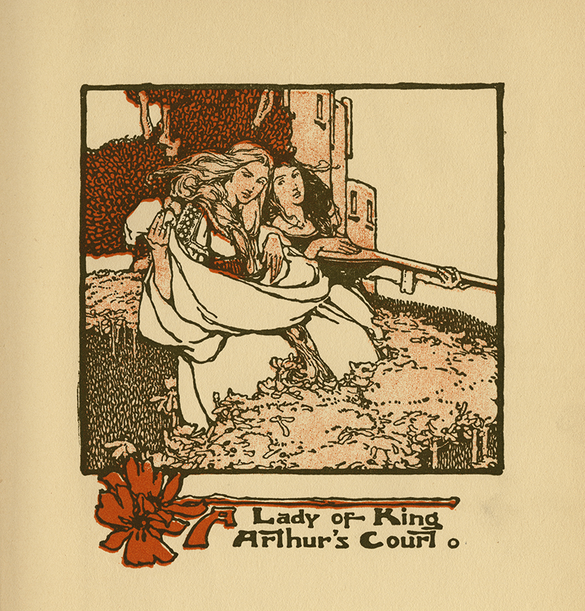 Clara Elsene Peck, Frontispiece illustration, A Lady of King Arthur's Court, by Sara Hawks Sterling, G.W. Jacobs & Co. 1907. Since last spring, working with Eden Lewis, above mentioned Sara Wong and now Abhi Alwar, I have been working on a curatorial project focusing on women in American illustration, drawing on the Walt Reed Collection at the Modern Graphic History Library, also pulling selectively from my own collection. This project is burbling along; I think Abhi and I will have it ready to go live online in the next six weeks. Stay tuned.