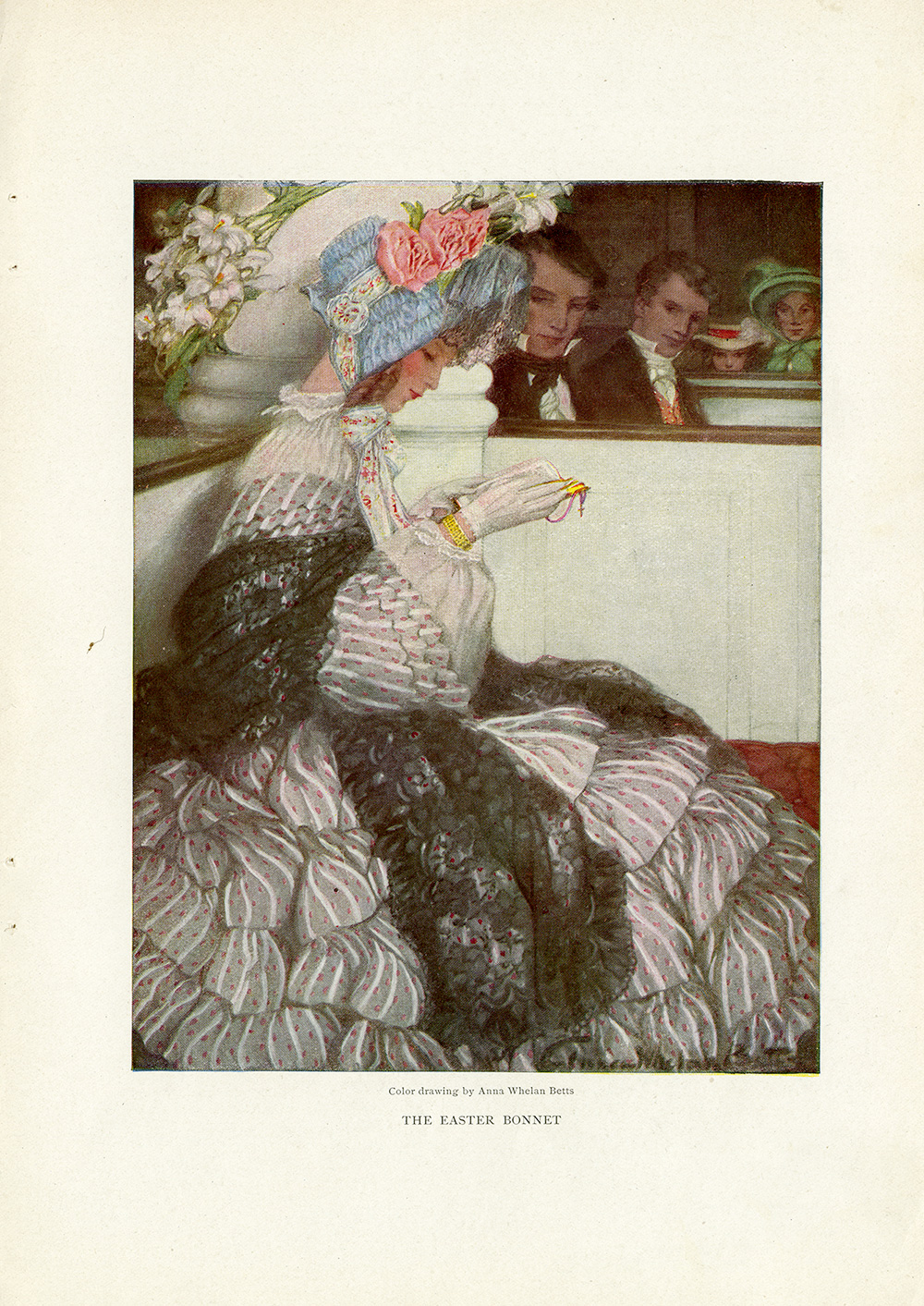 "Anna Whelan Betts, ""Easter Bonnet"". in Century Magazine. April 1904."