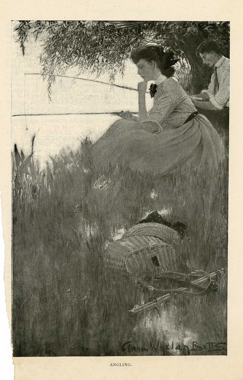 "Anna Whelan Betts. ""Angling"". Everybody's Magazine. August 1903."