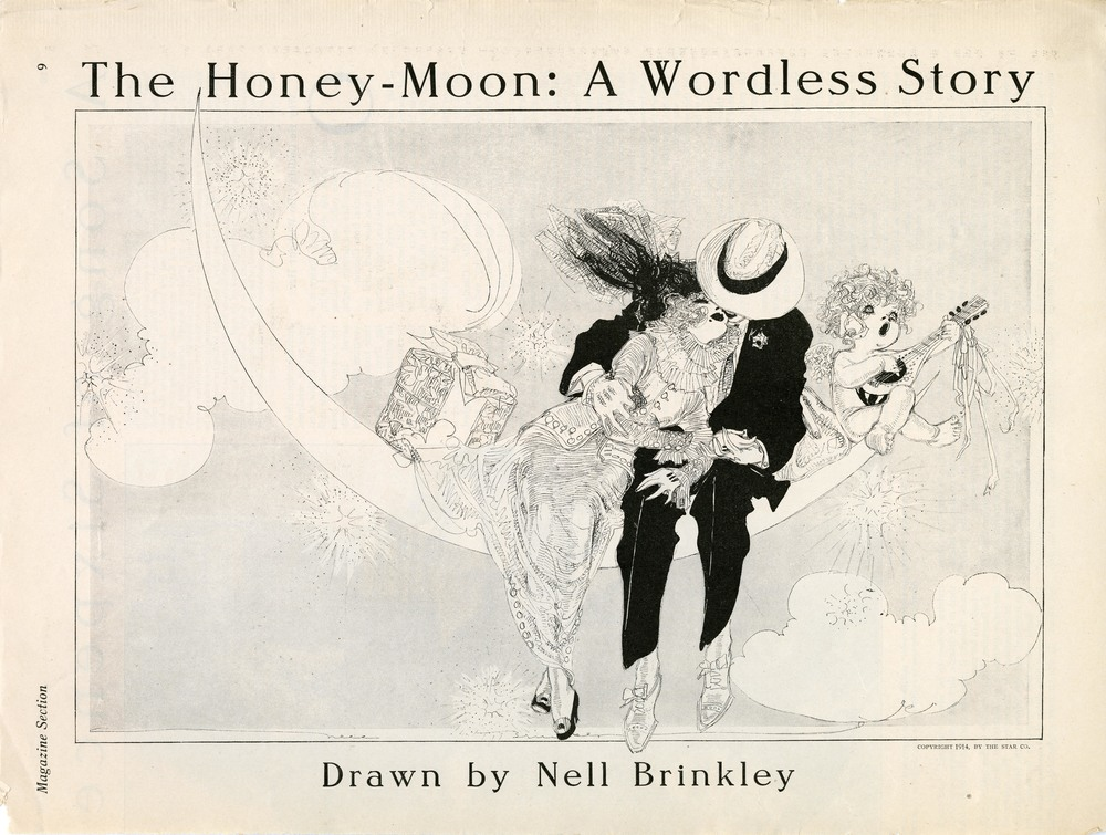 "Nell Brinkley, ""The Honey-Moon: A Wordless Story"". 1914."