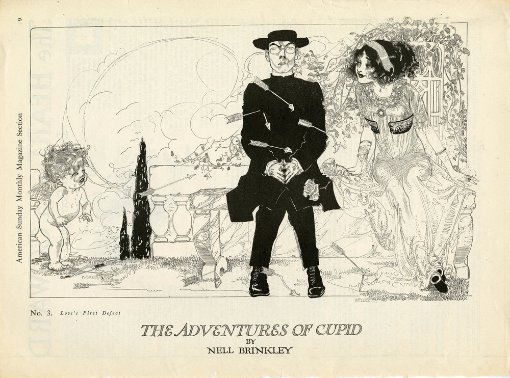 "Nell Brinkley, ""The Adventures of Cupid"". American Sunday Monthly Magazine."