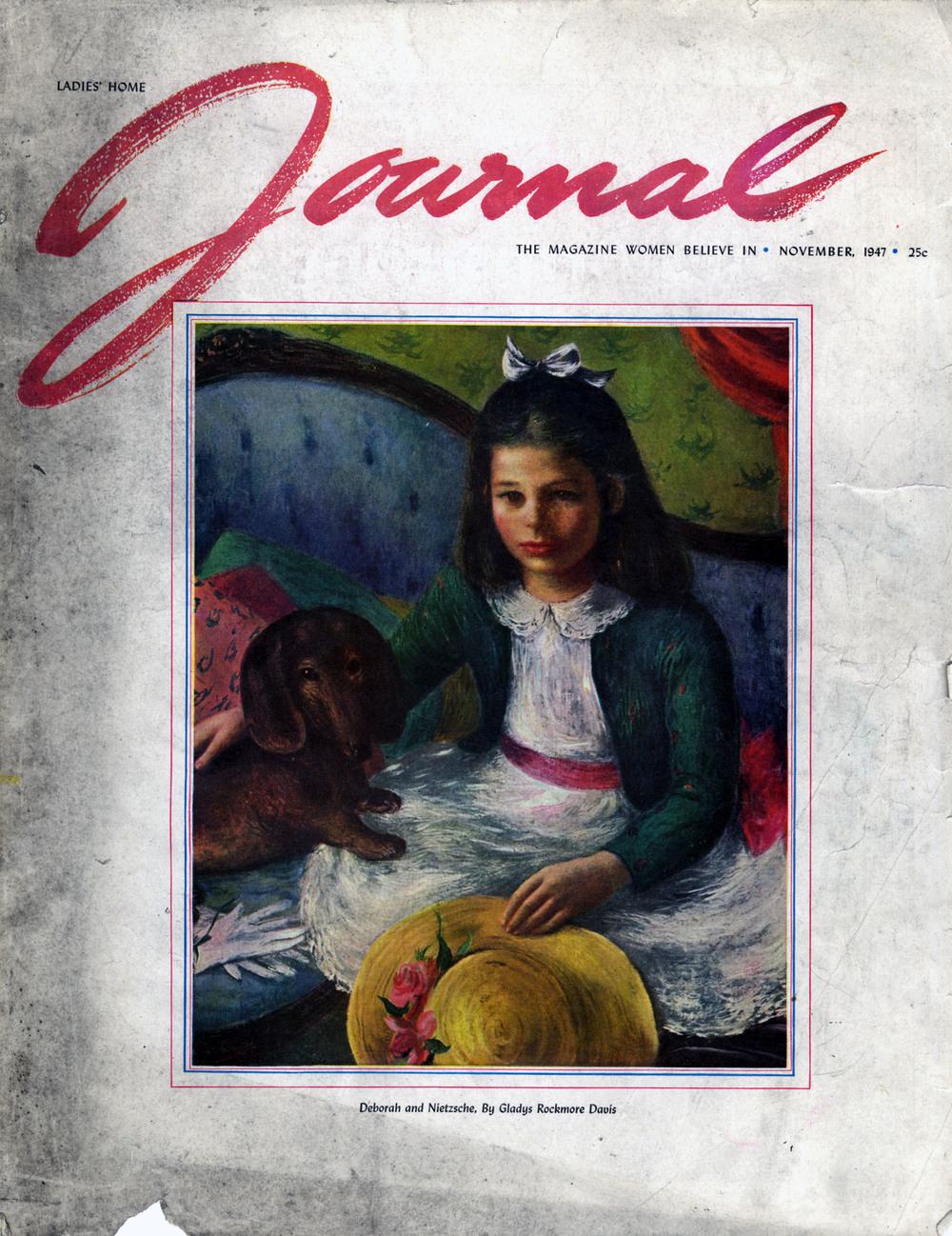 Gladys Rockmore Davis, Cover Illustration. Ladies' Home Journal. November 1947.