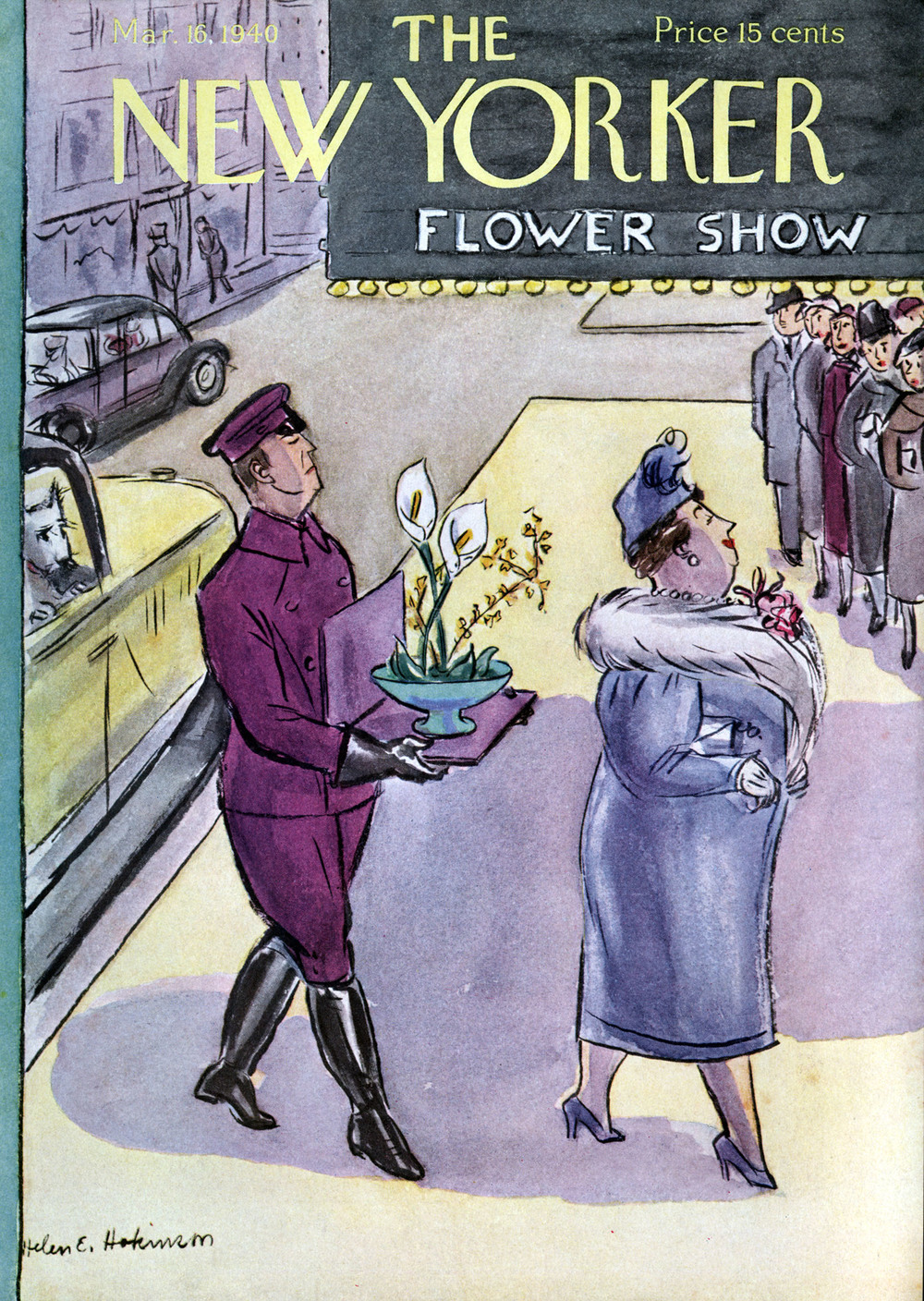 Helen E. Hokinson, Cover Illustration for The New Yorker. March 16, 1940.