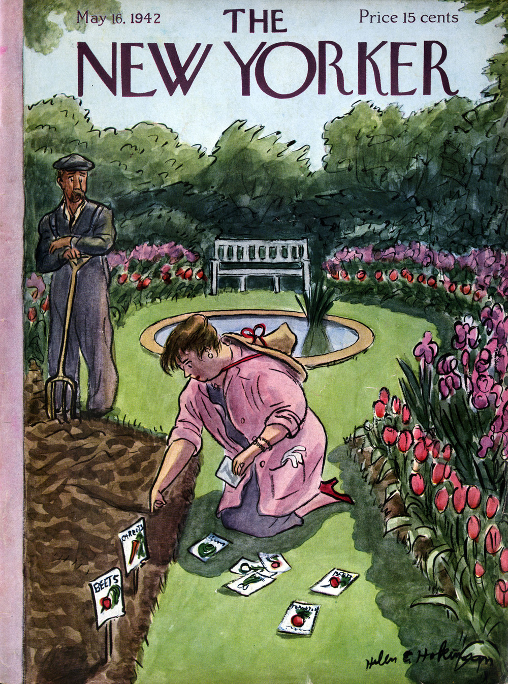 Helen E. Hokinson, Cover Illustration for The New Yorker. May16,  1942.