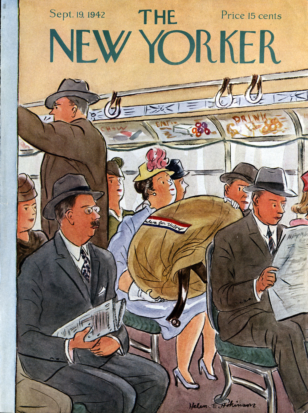 Helen E. Hokinson, Cover Illustration for The New Yorker. September 19, 1942.
