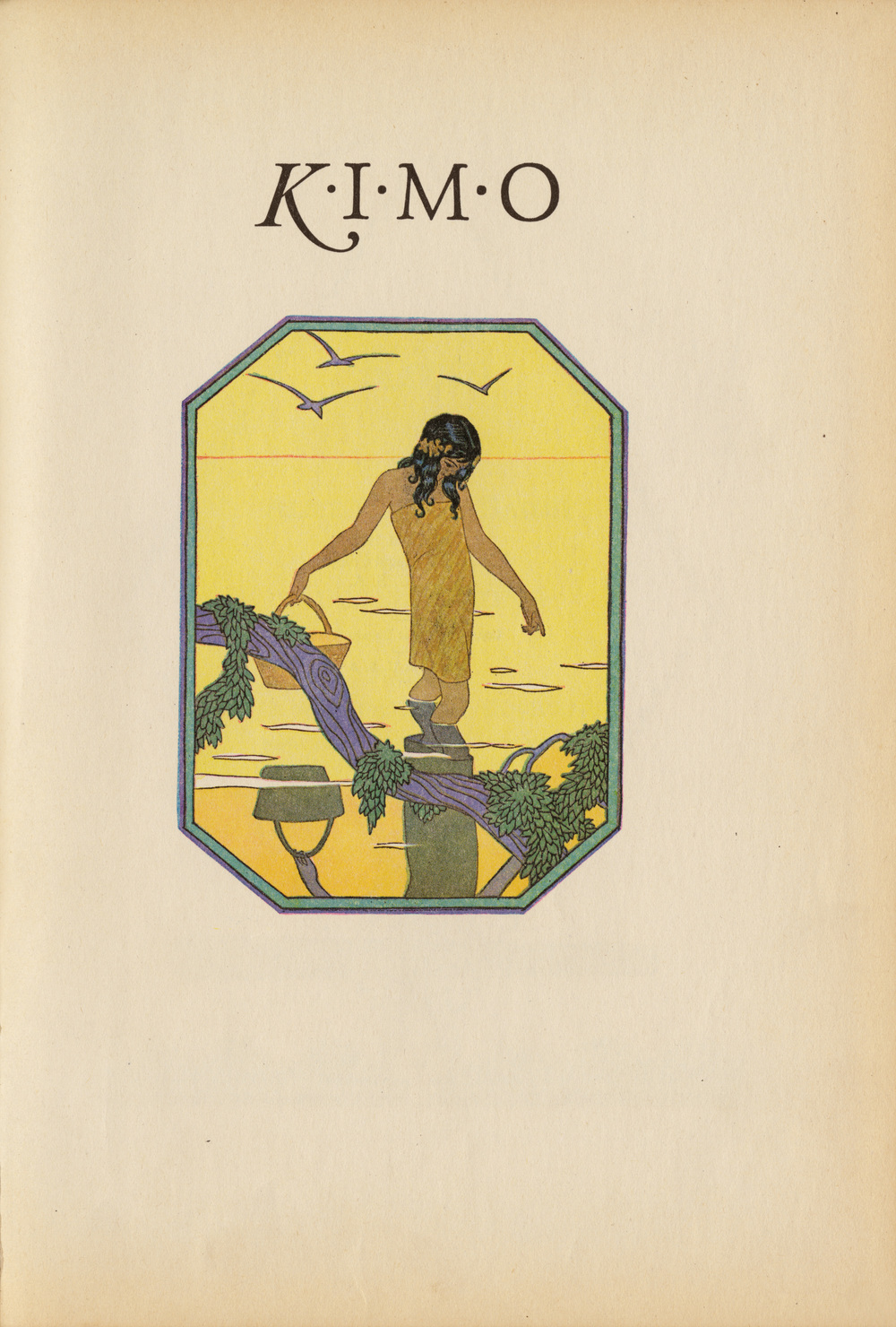 Lucille W. Holling, Frontispiece of  Kimo: The Whistling Boy . Written by Alice Cooper Bailey.   Published   in   1928 by   The Wise-Parslow Co.