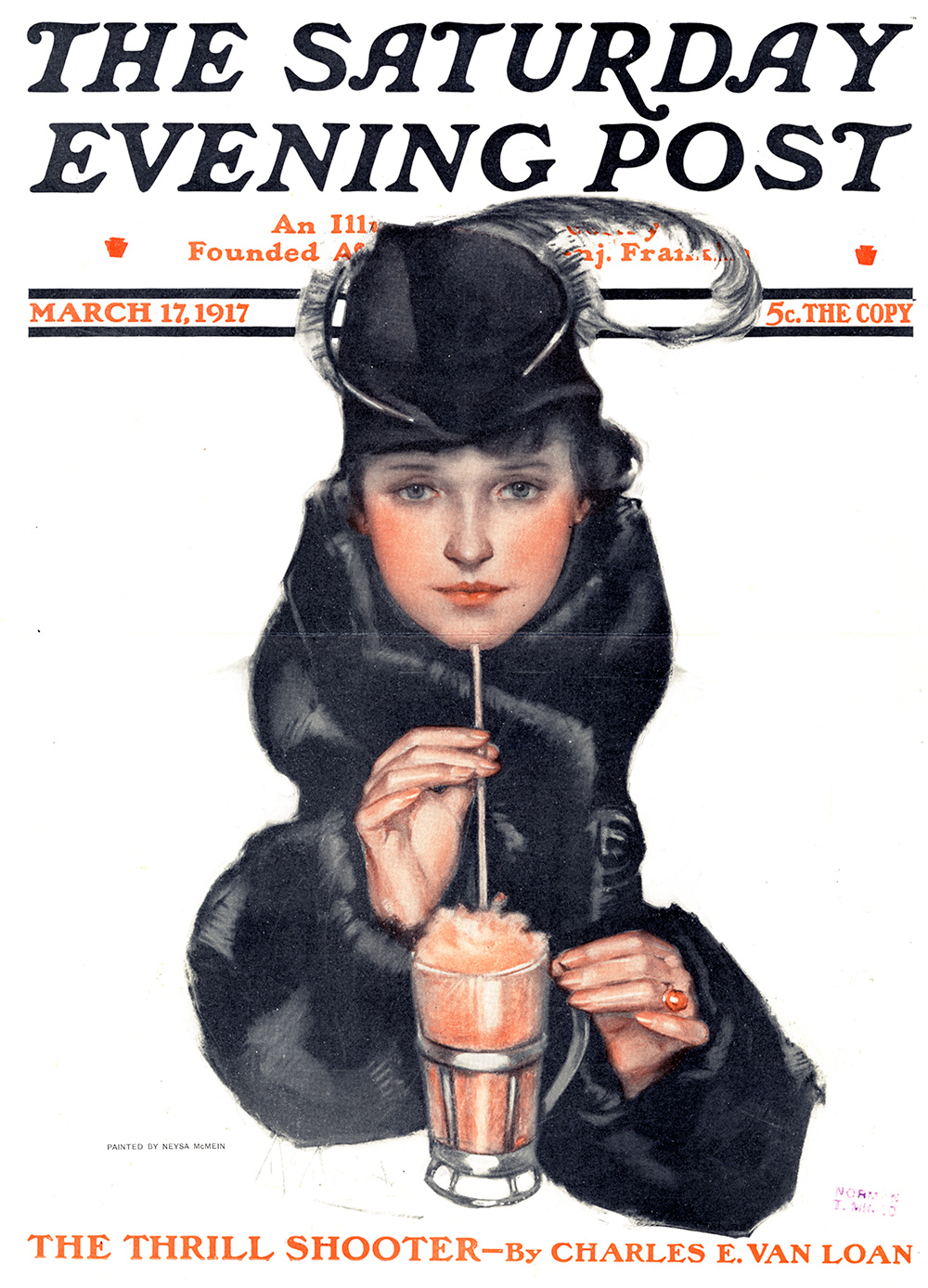 Neysa McMein, Cover Illustration for The Saturday Evening Post. March 17, 1917.