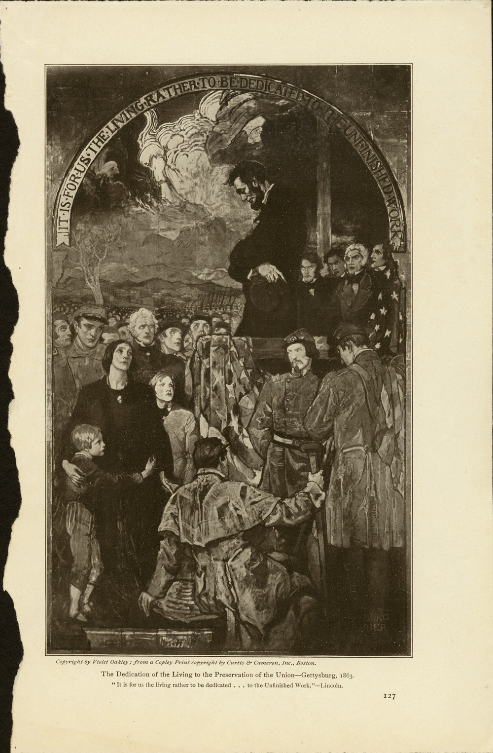 Violet Oakley,  The Dedication of the Living to the Preservation of the Union . Senate Murals, Pennsylvania Capitol Building. Dedicated in 1917.