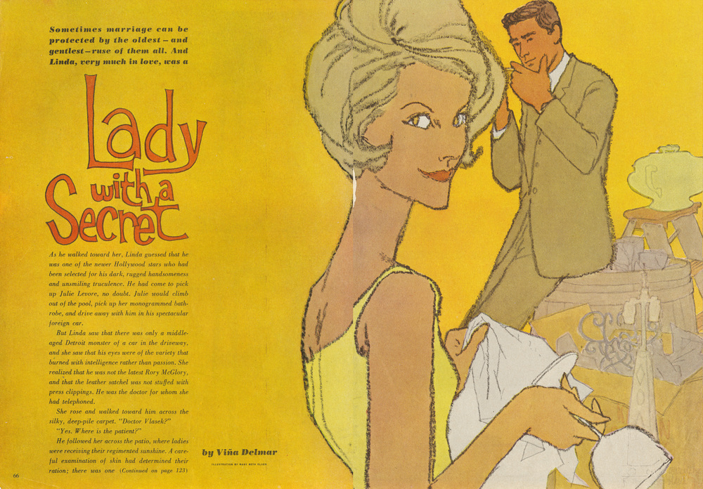 "Meribeth Olsen, ""Lady with a Secret"". Good Housekeeping Magazine. March 1961."