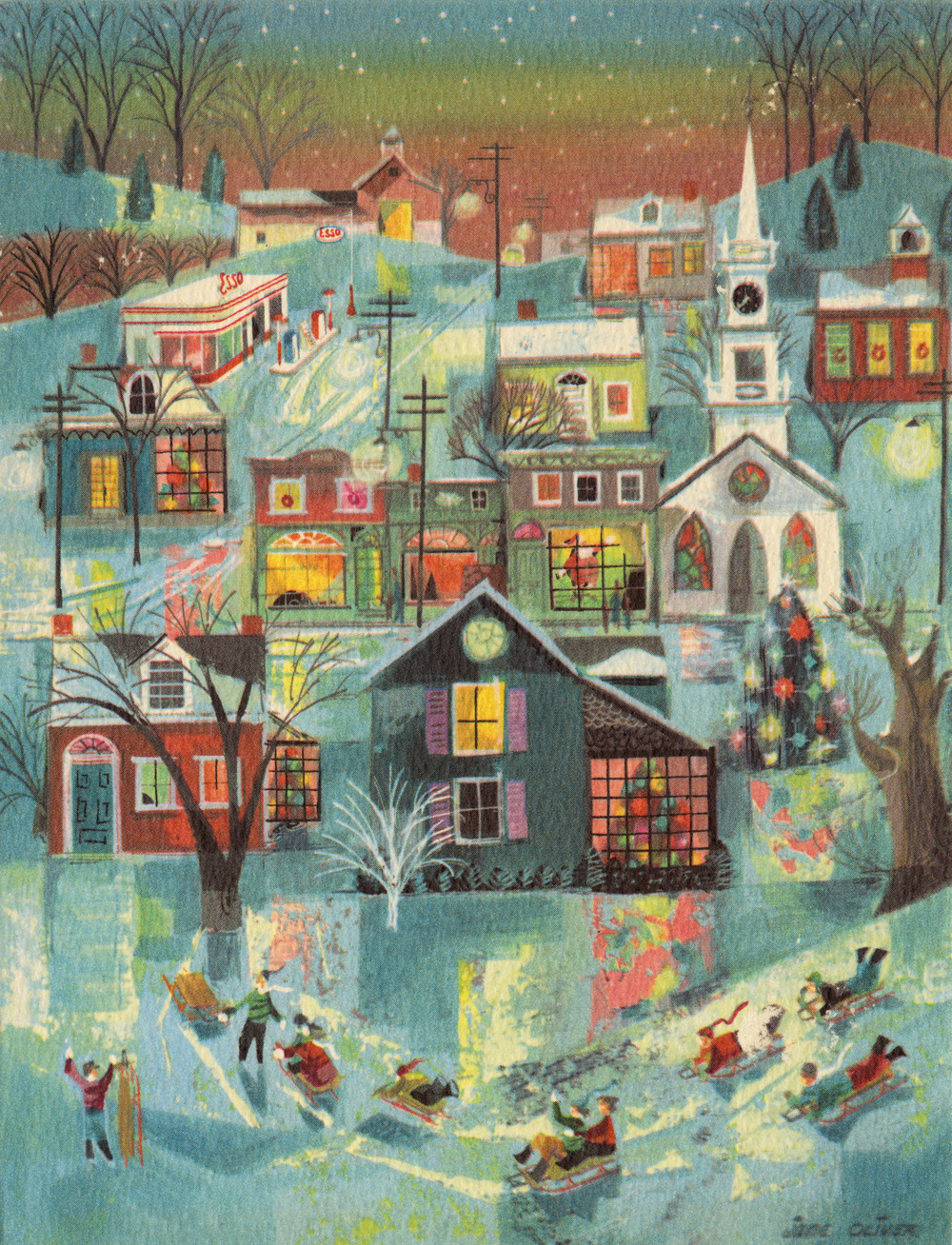 Jane Oliver. Holiday Card. Undated.