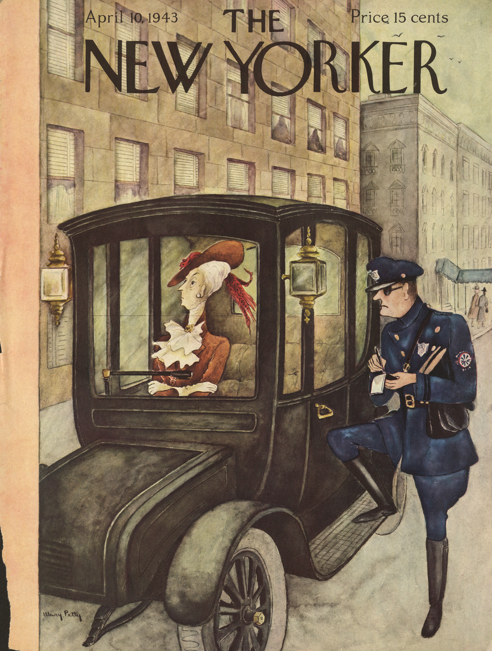 Mary Petty, cover illustration for  The New Yorker . April 10, 1943.