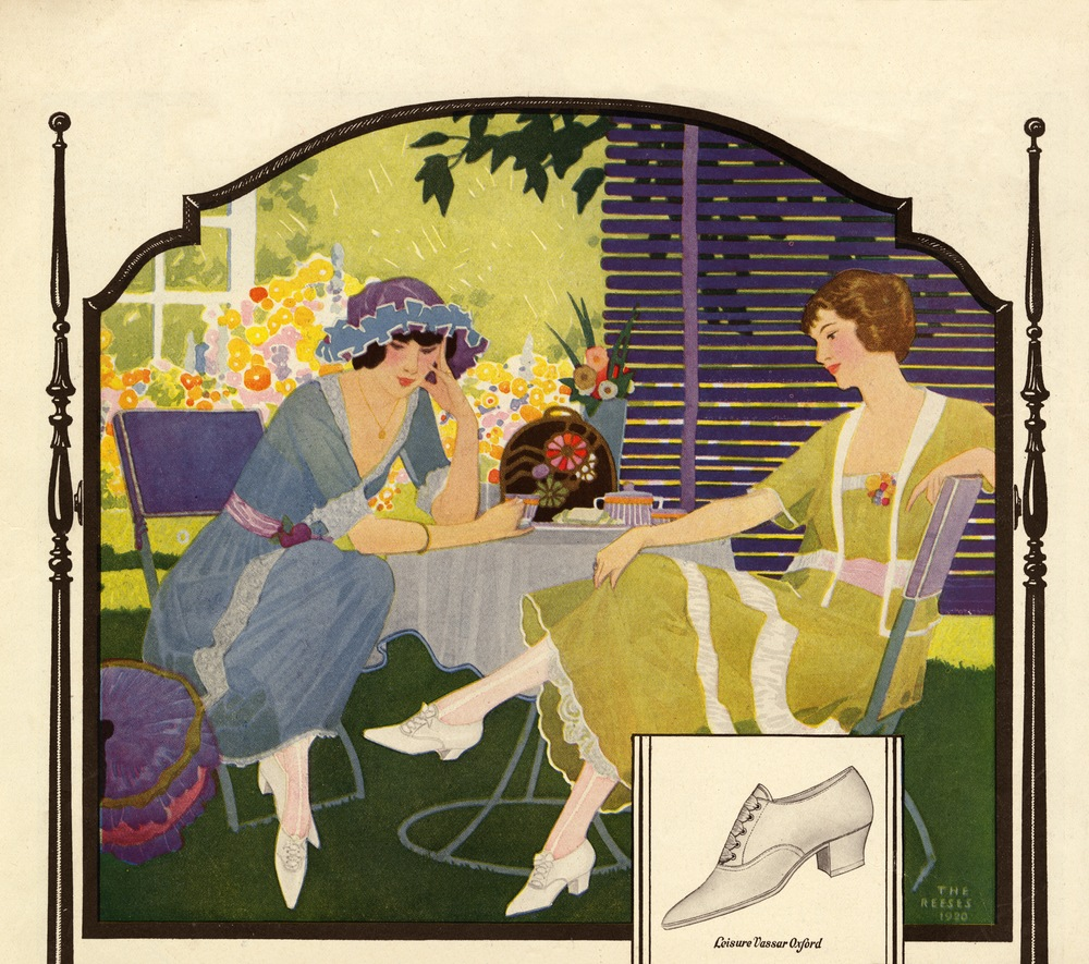 The Reeses, Print ad for Leisure Vassar Oxford. 1920.