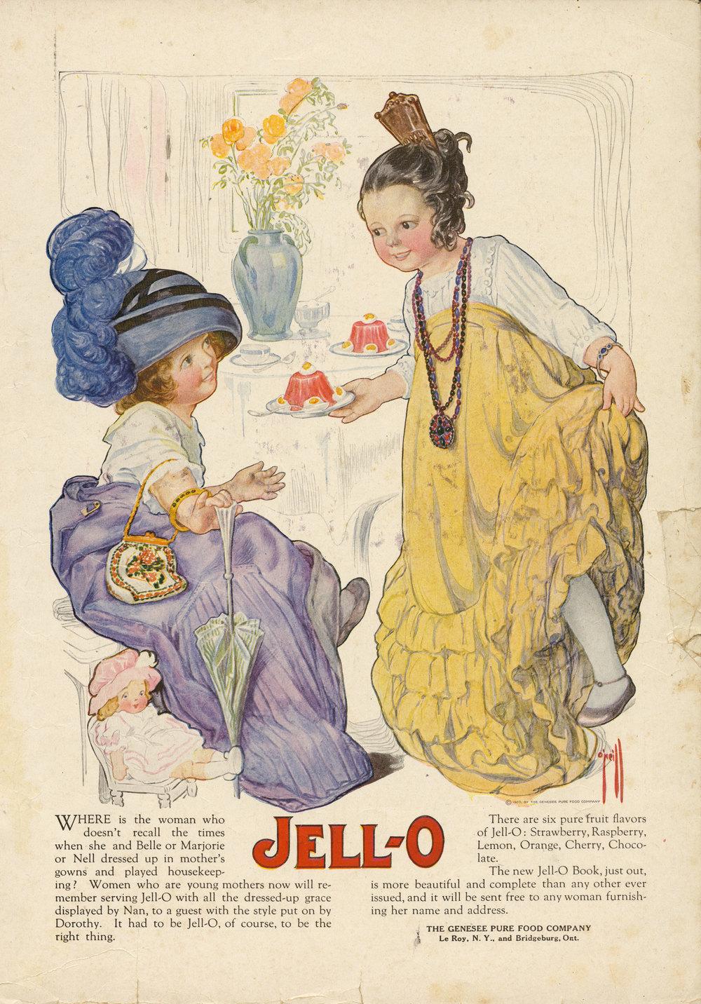 Rose O'Neill, Jell-O ad. 1920.