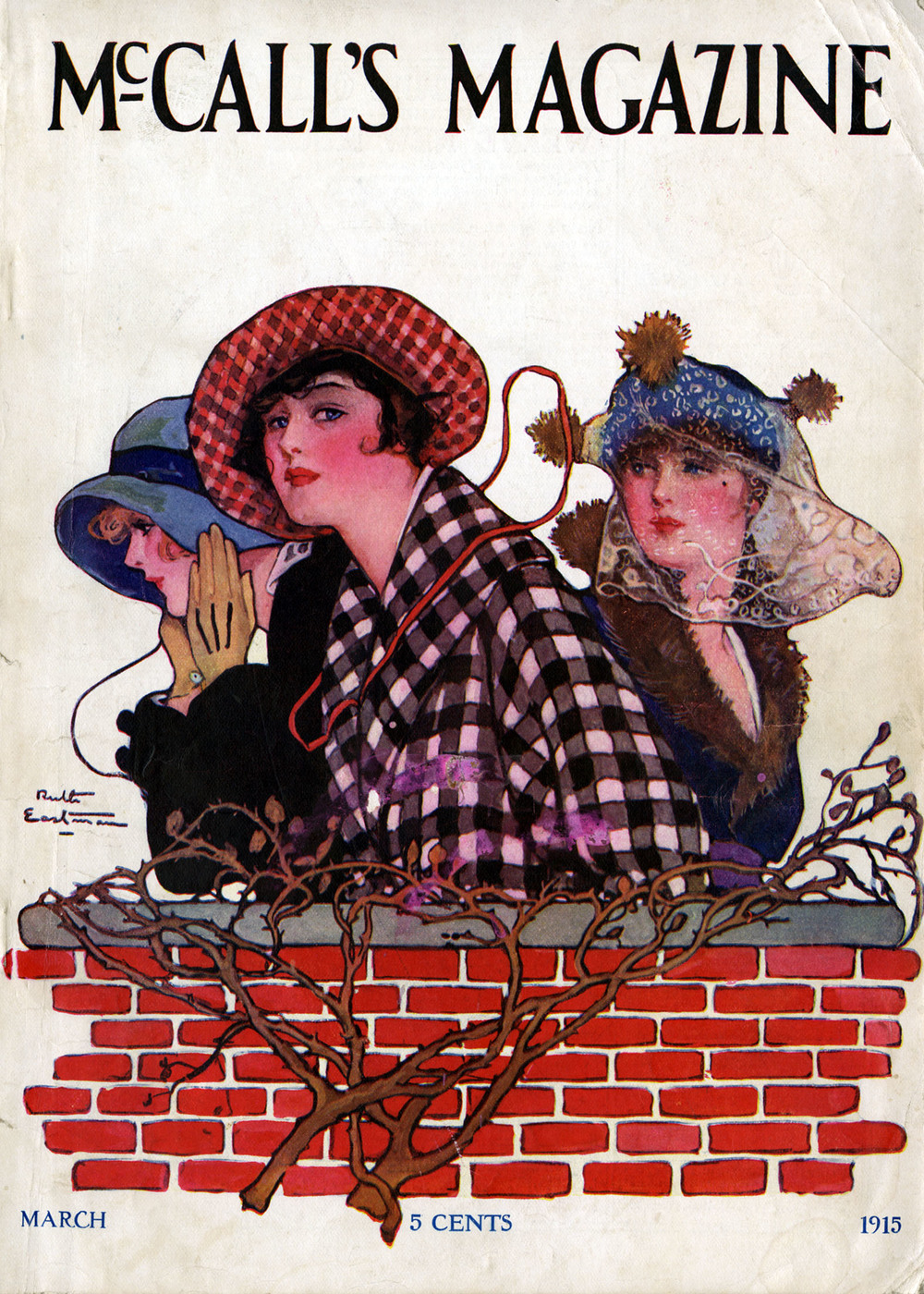 Ruth Eastman, cover for  McCall's Magazine.  March 1915.