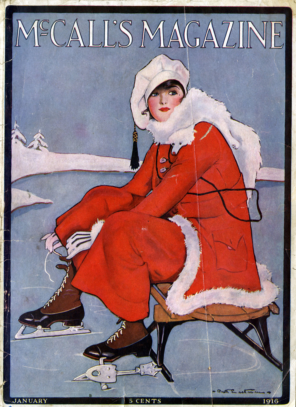 Ruth Eastman, cover for  McCall's Magazine.  January 1916.