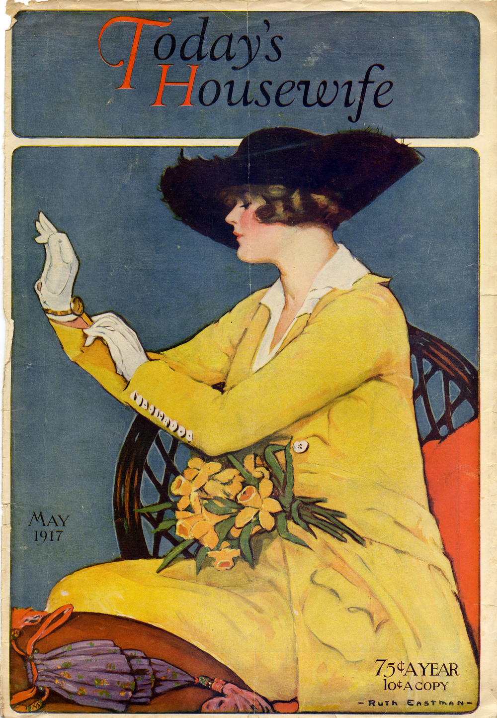 Ruth Eastman, cover for  Today's Housewife.  May 1917.