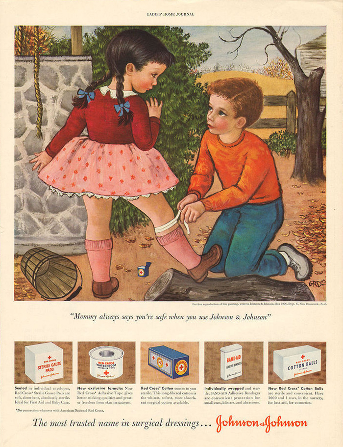 Gladys Rockmore Davis,  Johnson & Johnson Ad , Ladies Home Journal, circa 1950.