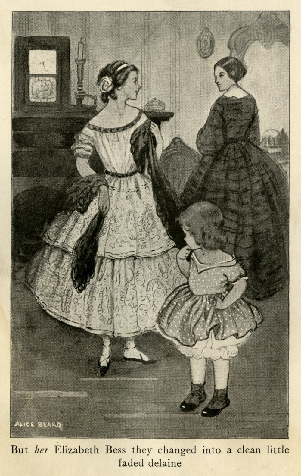 Alice Beard, illustration from  Elizabeth Bess.  1917.