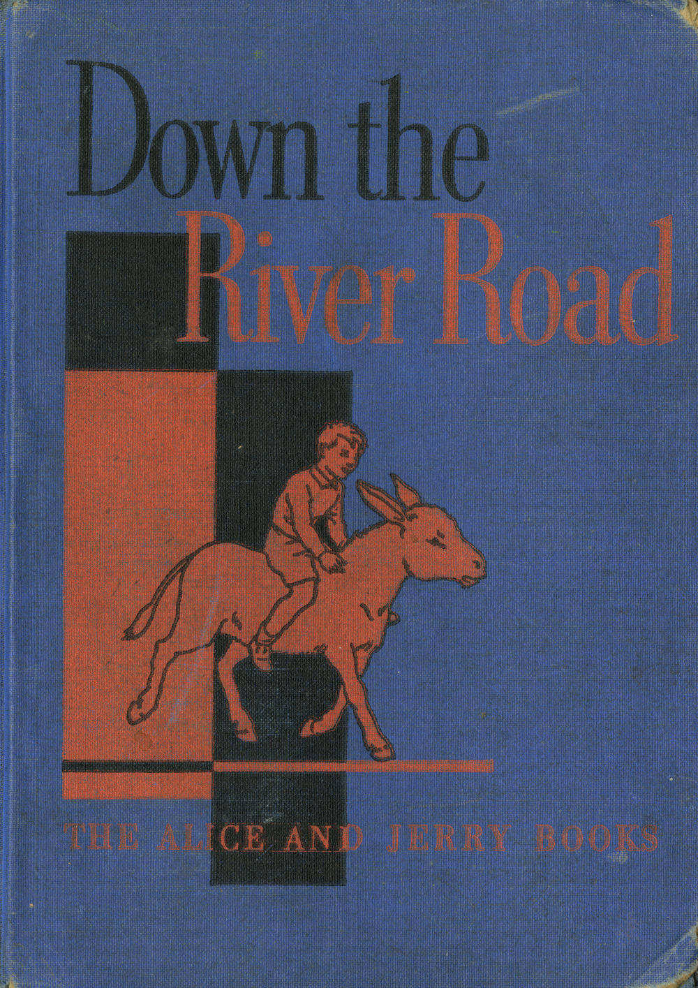 Down the River Road book cover. Written by Mabel O' Donnell. Published by Row, Peterson and Co, 1938.