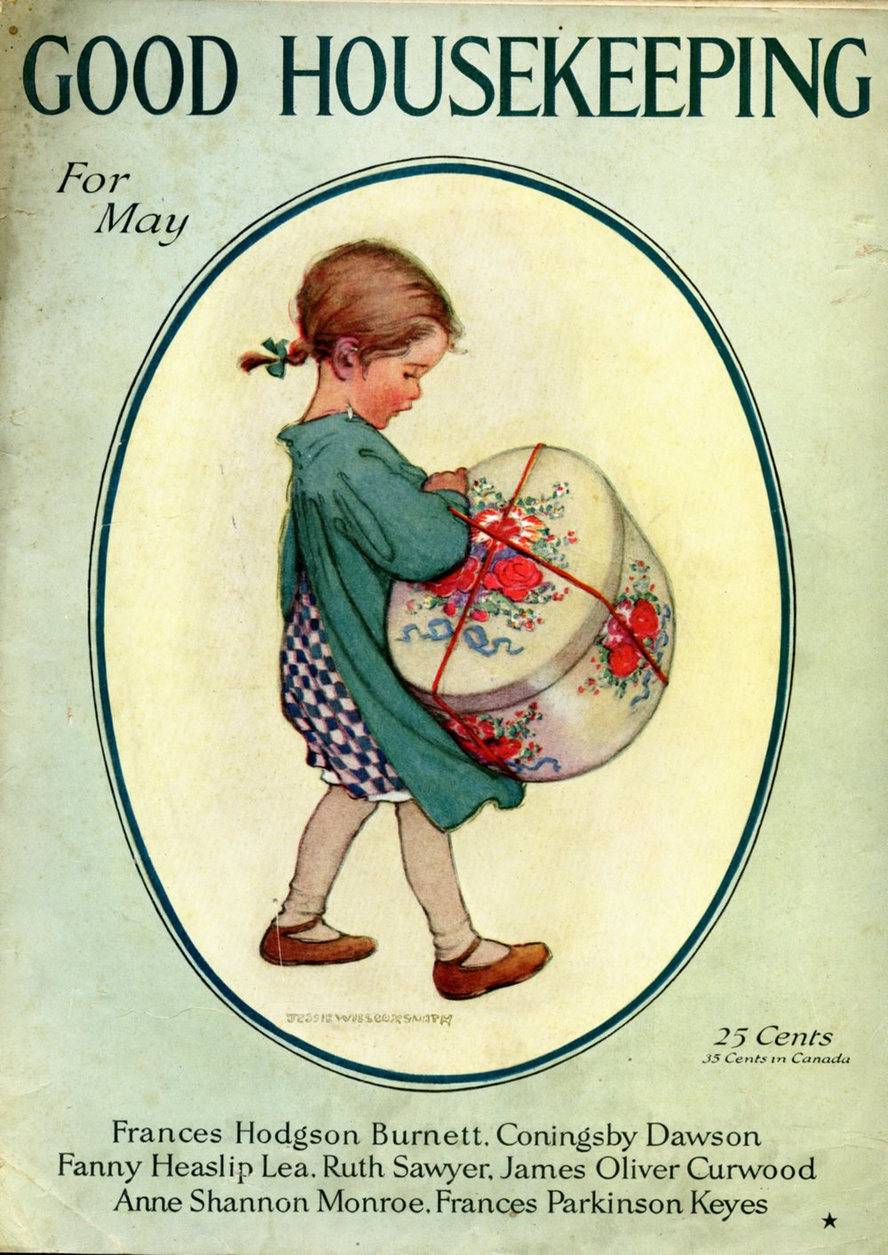 Jessie Wilcox Smith, cover for  Good Housekeeping Magazine.  May 1921.