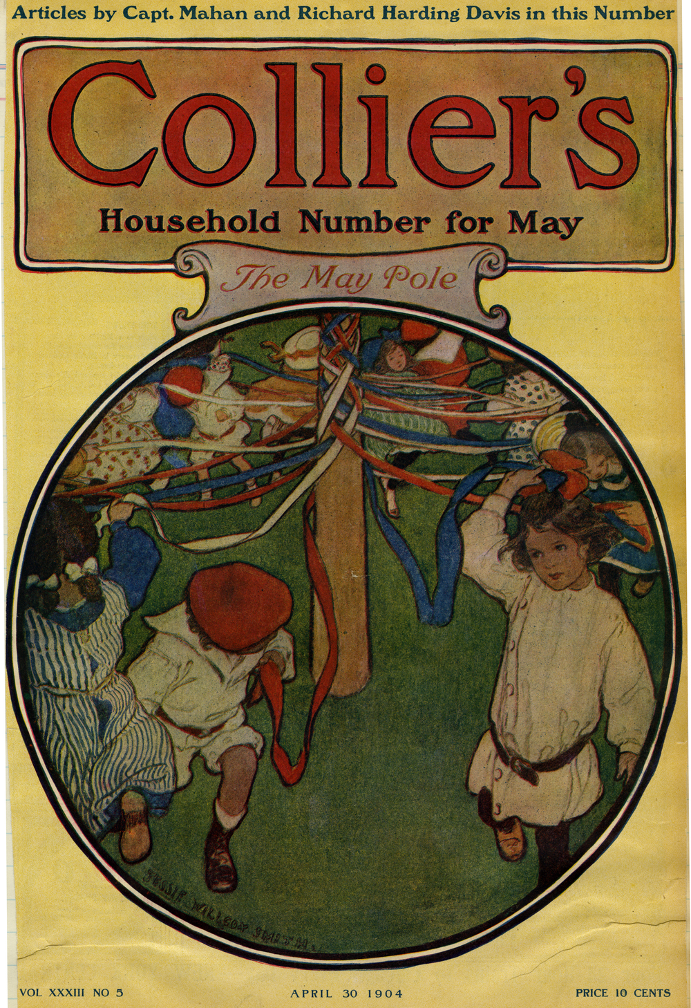 Jessie Wilcox Smith, cover for  Collier's Magazine . April 30, 1904.