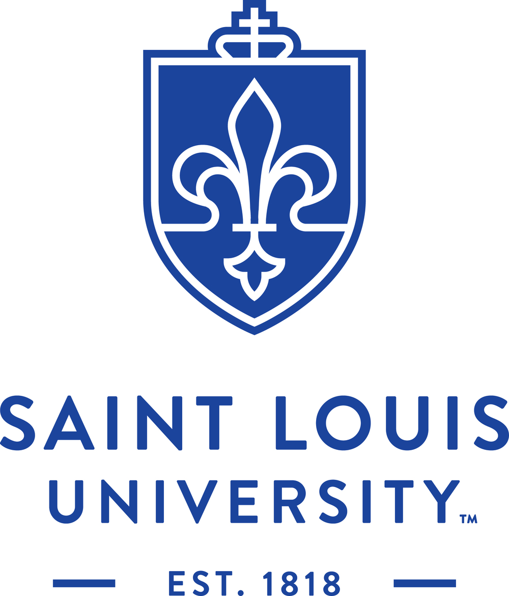 Revised Saint Louis University wordmark by Olson, a brand shop in Minneapolis. 2015.