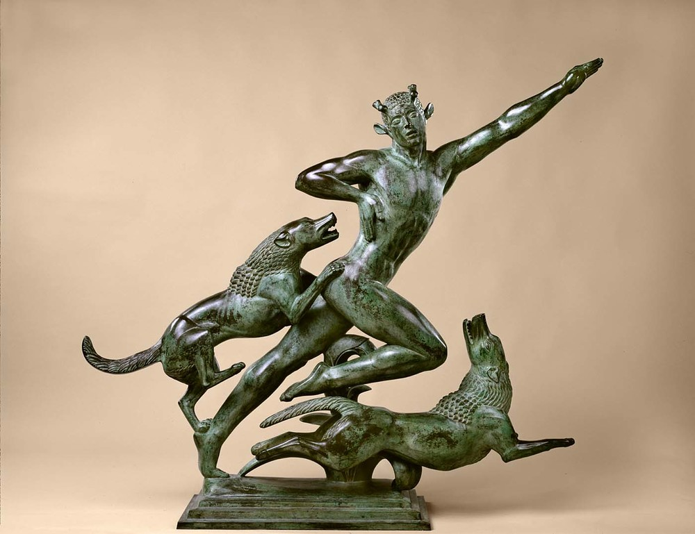 Paul Manship, Acteon #1, 1925. Also at the Smithsonian.