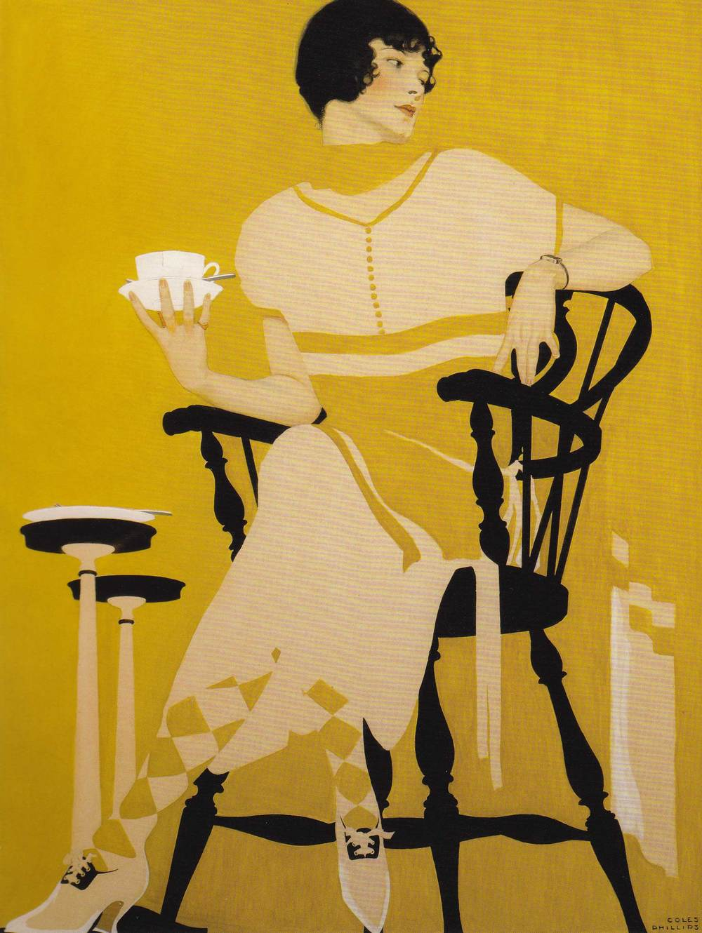 Coles Phillips, The Magic Hour, illustration for Oneida Community Plate advertisement, I924.