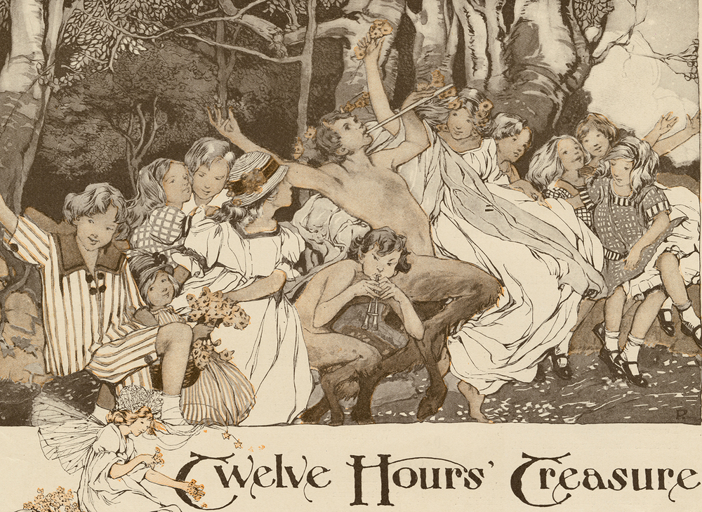 "Clara Elsene Peck, detail of illustration for ""Twelve Hours' Treasure"". Written by Phyllis Wyatt Brown. The Delineator, December 1914."