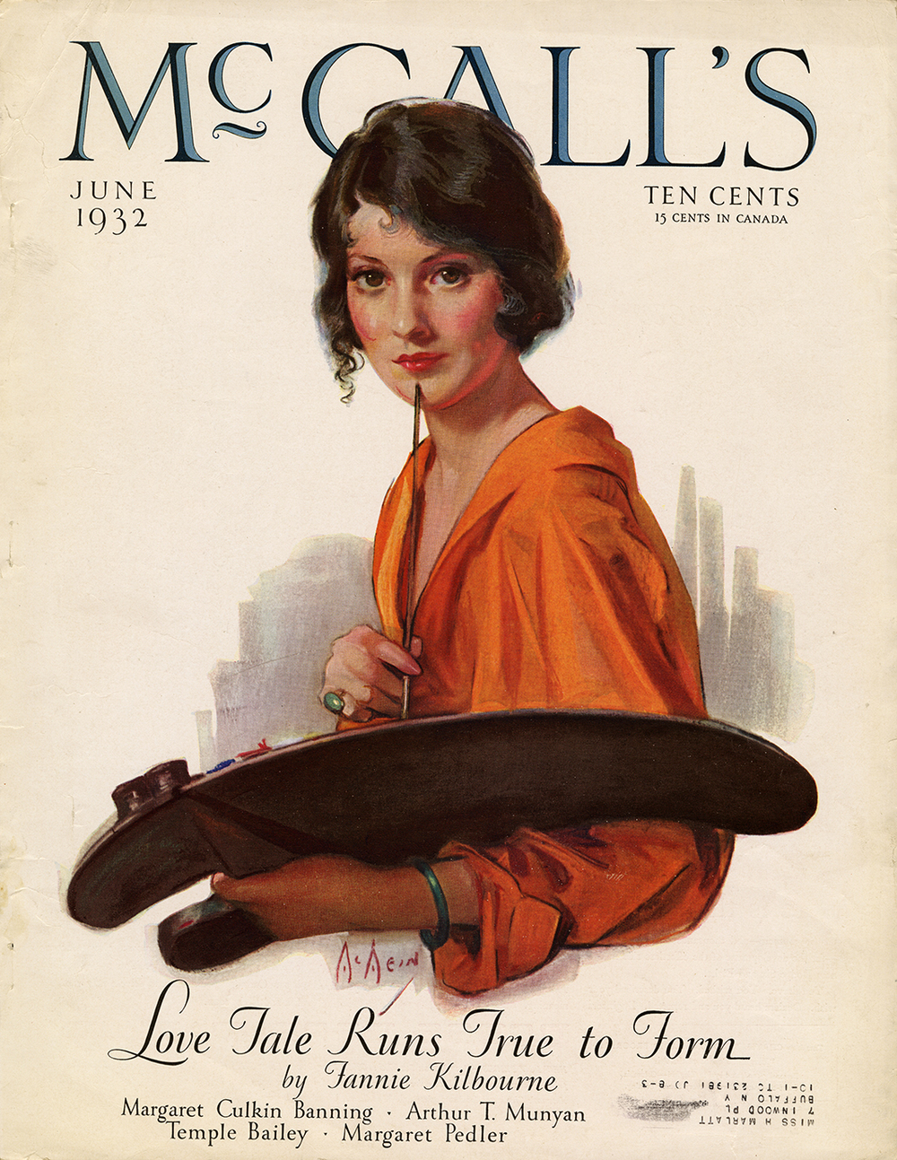 Neysa McMein, Self Portrait cover illustration for McCall's, June 1932.