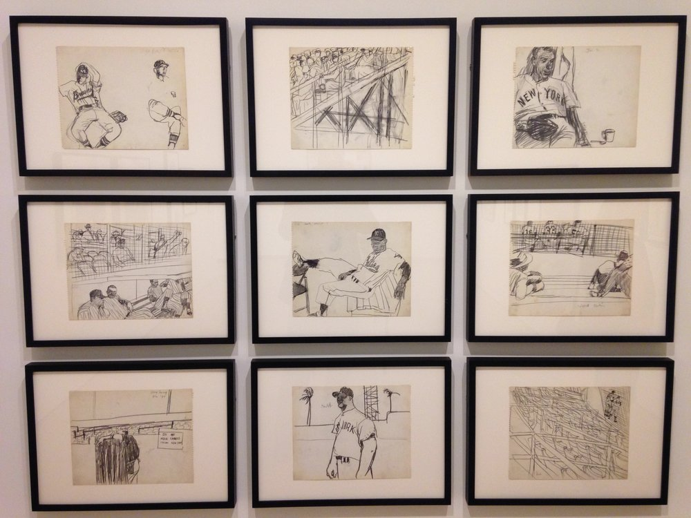 Robert Weaver, Spring Training Sketchbook, installation shot from Parallel Modes, 2015.