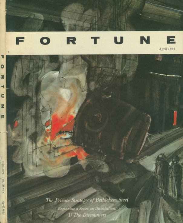 Robert Andrew Parker, The Private Strategy of Bethlehem Steel, cover illustration for Fortune Magazine, April 1962.