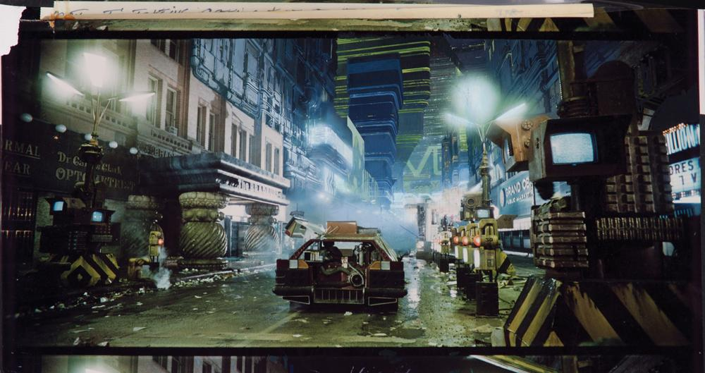 Painting credit unavailable, matte painting for  Blade Runner  (1982). Directed by Ridley Scott.