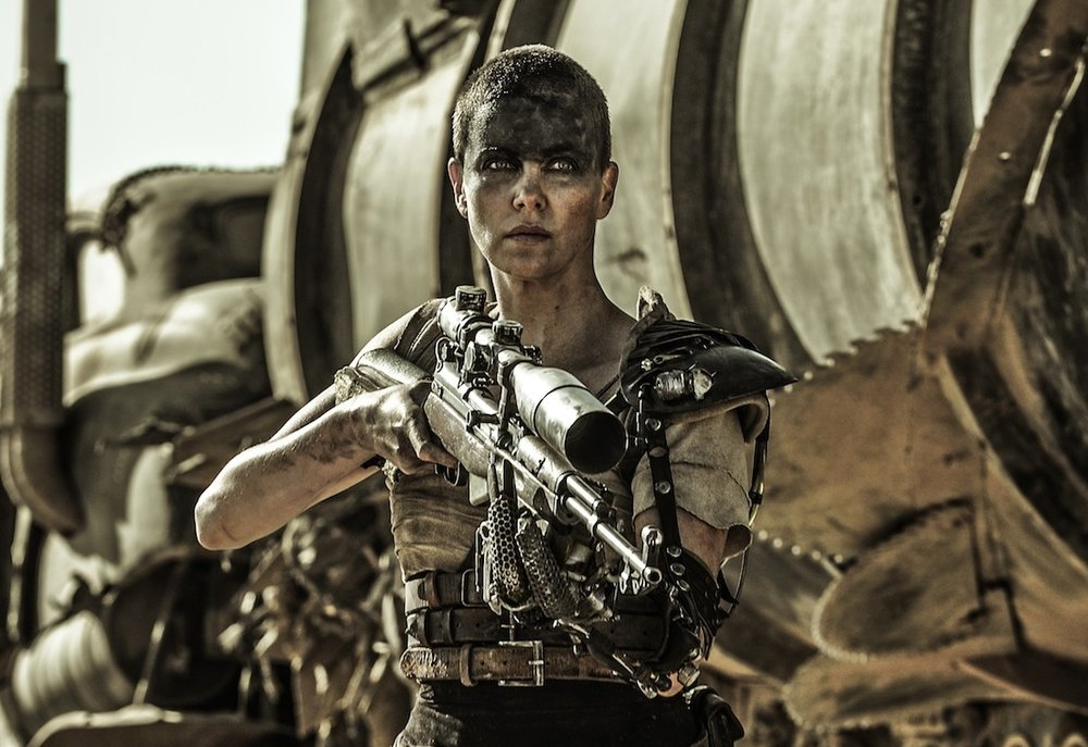 Film Still of Charlize Theron as Furiosa.  Mad Max: Fury Road  (2015), directed by George Miller.