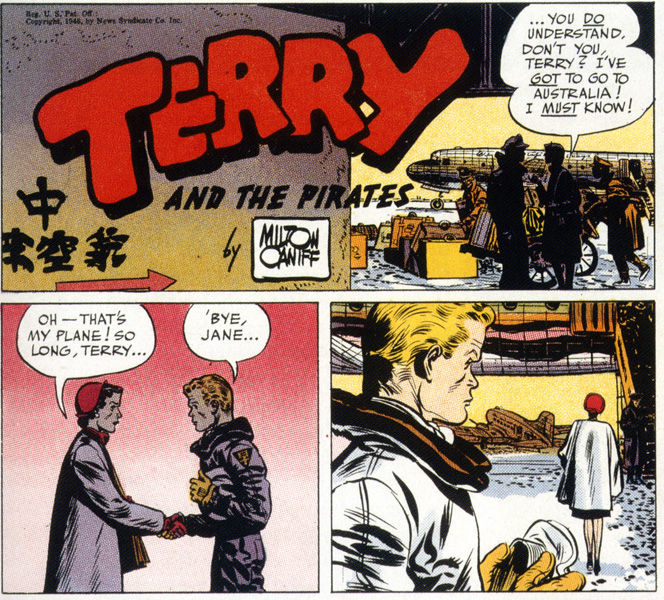 Milton Caniff,  Terry and the Pirates , December 29, 1946 Sunday strip.