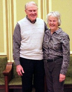 Jim and Betty Dowd in 2014, at Second Presbyterian Church, St. Louis. Photograph by Keltner. I am looking for better photographs of Jim and Betty, and will add same when I am able to.