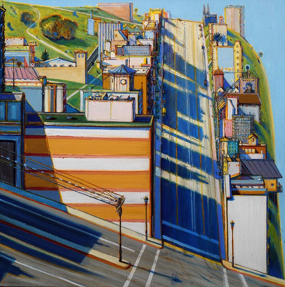 Wayne Thiebaud,  San Francisco West Side Ridge , 2001.